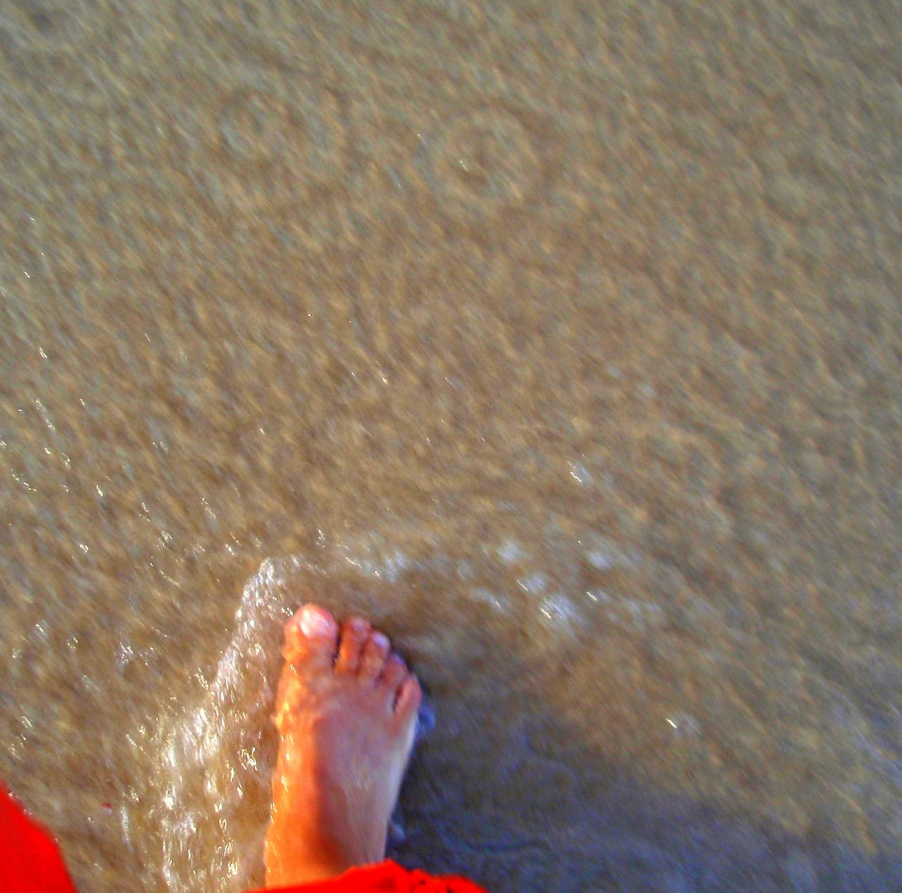 Foot in water
